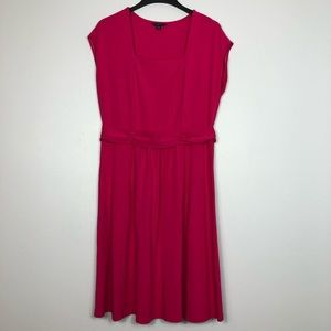 Lands End Short Sleeve Jersey Knit Dress Waist DTL